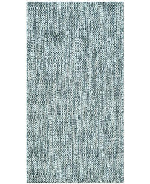 "Safavieh Courtyard Aqua 2' x 3'7"" Sisal Weave Area Rug"