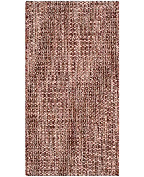 "Safavieh Courtyard Red and Beige 2' x 3'7"" Sisal Weave Area Rug"