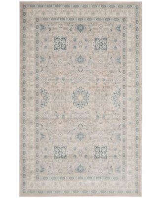 Archive Gray and Blue 4' x 6' Area Rug