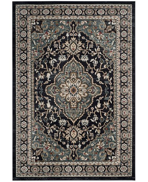 Safavieh Lyndhurst Anthracite and Teal 6' x 9' Area Rug