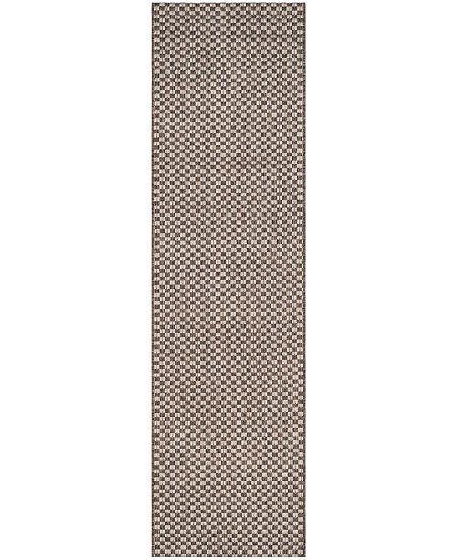 "Safavieh Courtyard Light Brown and Light Grey 2'3"" x 12' Sisal Weave Runner Area Rug"
