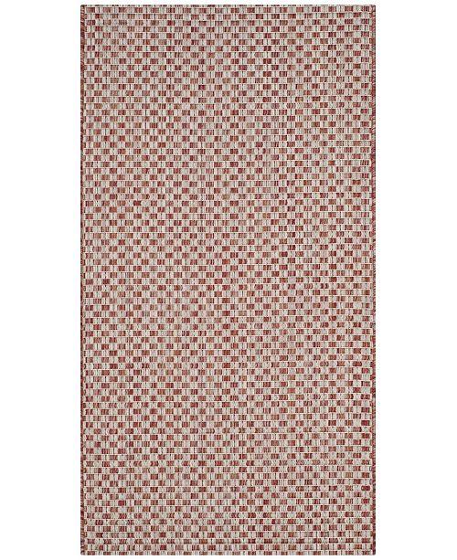 "Safavieh Courtyard Rust and Light Gray 2' x 3'7"" Sisal Weave Area Rug"