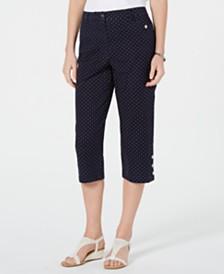 Karen Scott Polka Dot Capri Pants, Created for Macy's