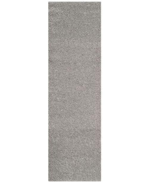 "Safavieh Arizona Shag Light Grey 2'3"" x 8' Runner Area Rug"
