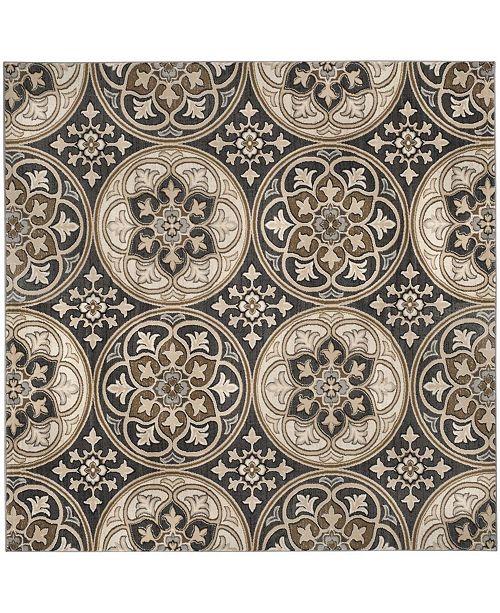 Safavieh Lyndhurst Light Gray and Beige 8' x 8' Square Area Rug