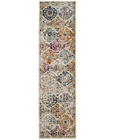 "Madison Cream and Multi 2'3"" x 14' Runner Area Rug"