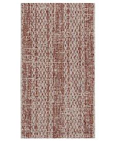 "Safavieh Courtyard Light Beige and Terracotta 2' x 3'7"" Sisal Weave Area Rug"