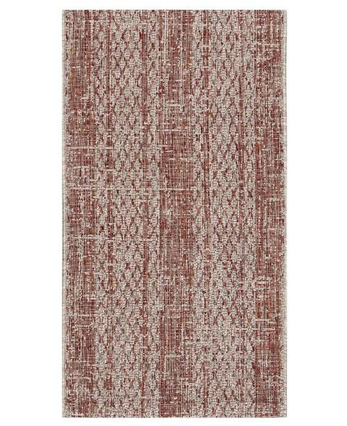 "Safavieh Courtyard Light Beige and Terracotta 2' x 3'7"" Sisal Weave Area Rug"