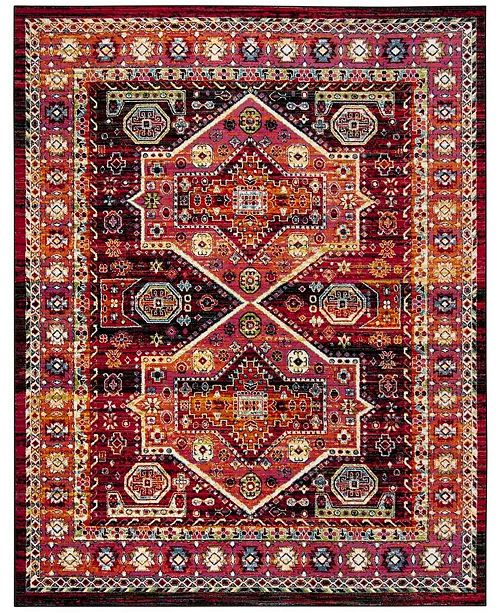 Safavieh Cherokee Black and Orange 8' x 10' Area Rug