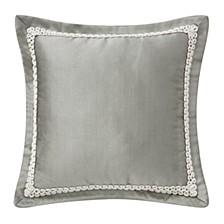 "Celine Dove Grey 16"" X 16"" Square Collection Decorative Pillow"
