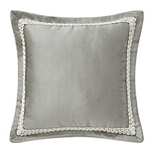 """Waterford Celine Dove Grey 16"""" X 16"""" Square Collection Decorative Pillow"""