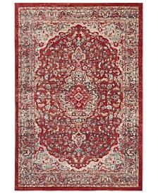 Safavieh Merlot Red and Aqua 4' x 6' Area Rug