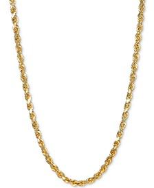 "Rope 22"" Chain Necklace in 14k Gold"