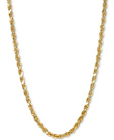 "Italian Gold Rope 24"" Chain Necklace in 14k Gold"