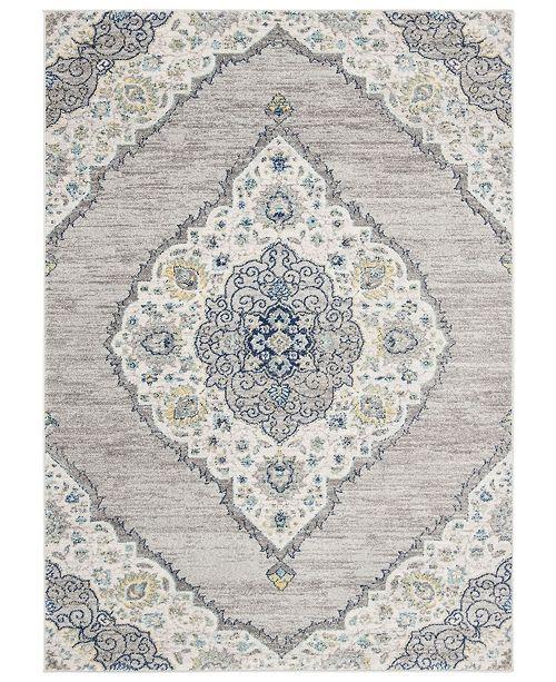Safavieh Madison Light Gray and Blue 8' x 10' Sisal Weave Area Rug