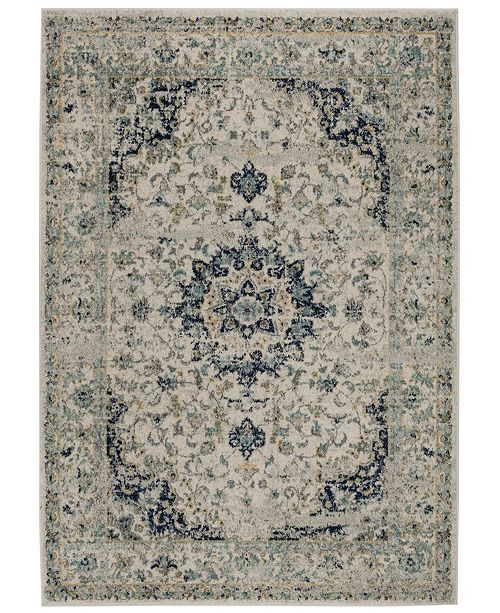 "Safavieh Madison Ivory and Blue 2'3"" x 8' Sisal Weave Runner Area Rug"
