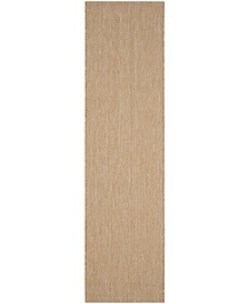 """Courtyard Natural and Cream 2'3"""" x 14' Sisal Weave Runner Area Rug"""