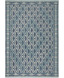 "Safavieh Courtyard Navy and Aqua 2' x 3'7"" Sisal Weave Area Rug"