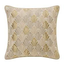 "Waterford Abrielle Champagne 14"" X 14"" Square Pillow"