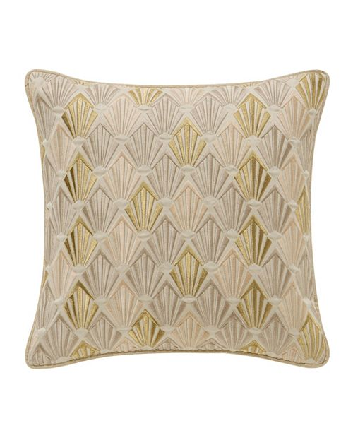 """Waterford Abrielle Champagne 14"""" X 14"""" Square Pillow"""