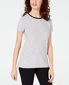 Maison Jules Crewneck Ringer T-Shirt, Created for Macy's