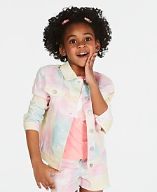 Epic Threads Little Girls Tie Dyed Denim Jacket, Created for Macy's