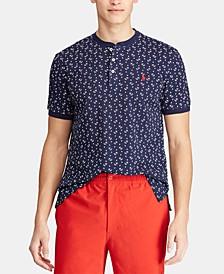 Men's Custom Slim Fit Mesh Henley Shirt