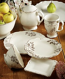 Vintage Cream with Floral Dinnerware Collection