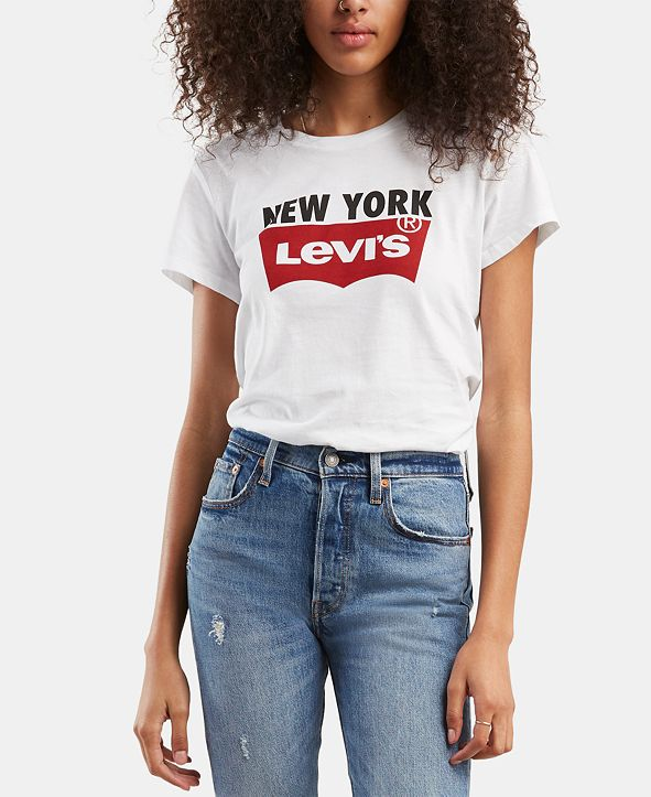Levi's Women's Batwing Logo Cotton Cities T-Shirt