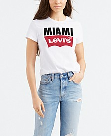 Women's Batwing Logo Cotton Cities T-Shirt