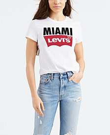 Levi's® Women's Batwing Logo Cotton Cities T-Shirt