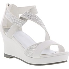 Little & Big Girls Reed Crystal Wedge