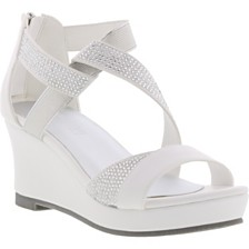 Kenneth Cole Little & Big Girls Reed Crystal Wedge