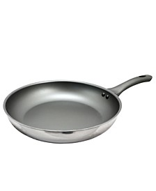 "Oster Cuisine Rivendell 12"" Aluminum and Stainless Steel Frying Pan"