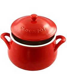 Crock Pot Artisan 5 Quart Ceramic Bean Pot with Lid and Handles