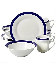 Nantucket Sail 12 Piece Dinnerware Set with Bands