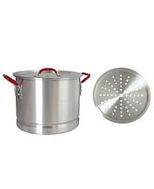 Oster Cocina Pamona 20 Quart Tamale Pot with Steamer Insert