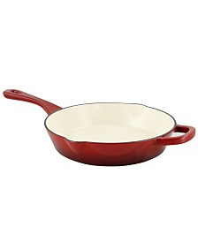 "Crock Pot Artisan 10"" Round Enameled Cast Iron Skillet"