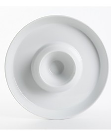 """Gibson Elite Gracious Dining 12"""" Chip and Dip Serving Bowl"""