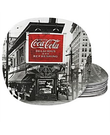 "Coca Cola Coke Noir Melamine 8.25"" Dessert Plate"