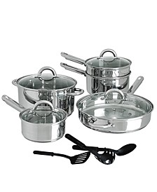Cuisine Select Abruzzo Stainless Steel 12 Piece Cookware Set
