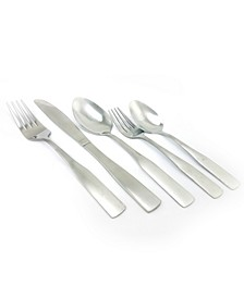 Abbeville 61 Piece Flatware Set with Wire Caddy