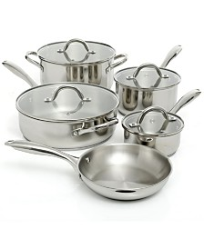Oster Cuisine Saunders 9 Piece Cookware Set in Mirror Polish