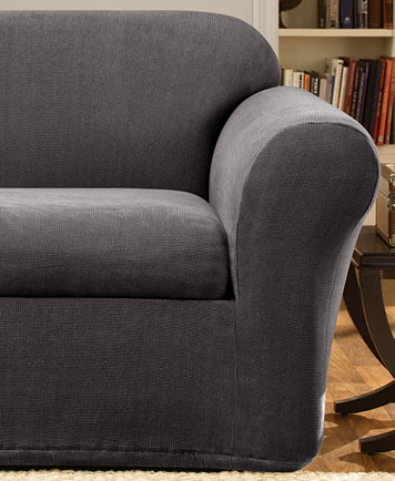 Image 1 Of Sure Fit Stretch Metro 2 Piece Sofa Slipcover