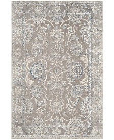 "Safavieh Patina Taupe and Blue 5'1"" x 7'6"" Area Rug"