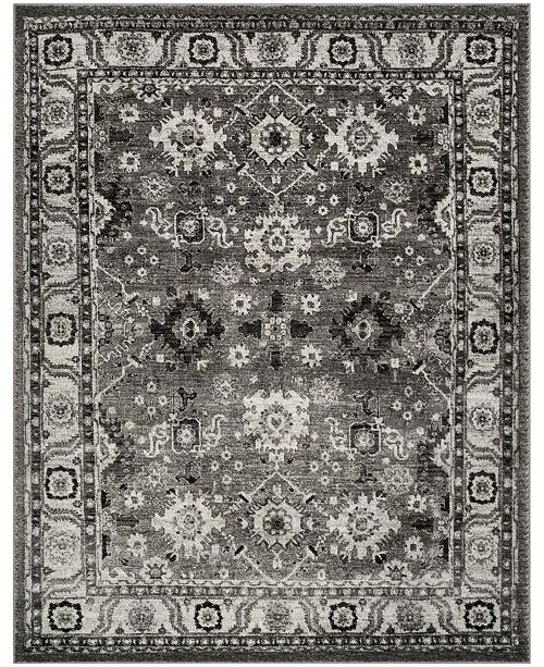 Safavieh Vintage Hamadan Gray and Black 9' x 12' Area Rug