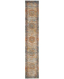 """Vintage Persian Blue and Multi 2'2"""" x 14' Runner Area Rug"""