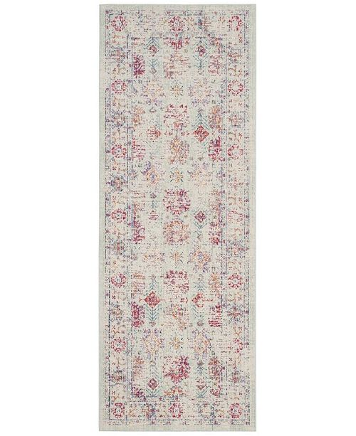 Safavieh Windsor Ivory and Fuchsia 3' x 12' Area Rug