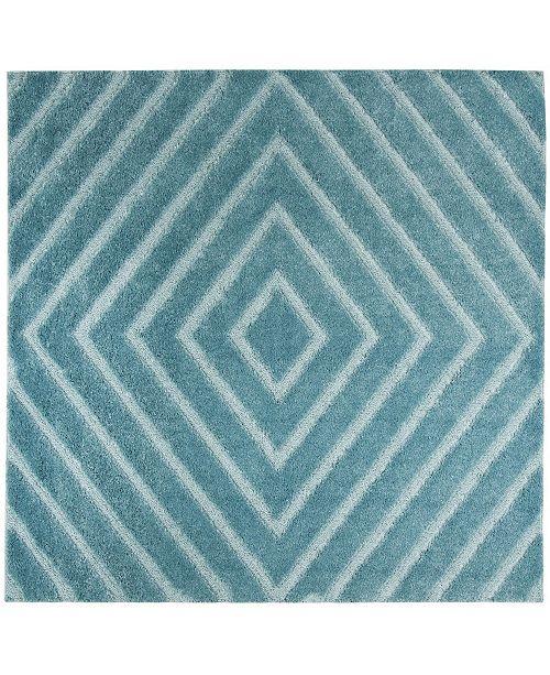 "Safavieh Olympia Blue 6'7"" x 6'7"" Square Area Rug"
