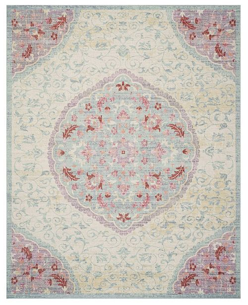 Safavieh Windsor Light Gray and Blue 9' x 13' Area Rug